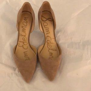 Sam Edelman beige suede heels - size 8.5